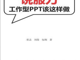 《说服力:工作型PPT该这样做》张志_文字版_pdf电子书_网盘免费下载