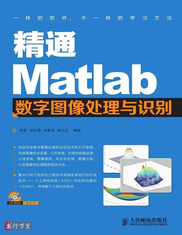《精通Matlab数字图像处理与识别》张铮_文字版_pdf电子书_网盘免费下载