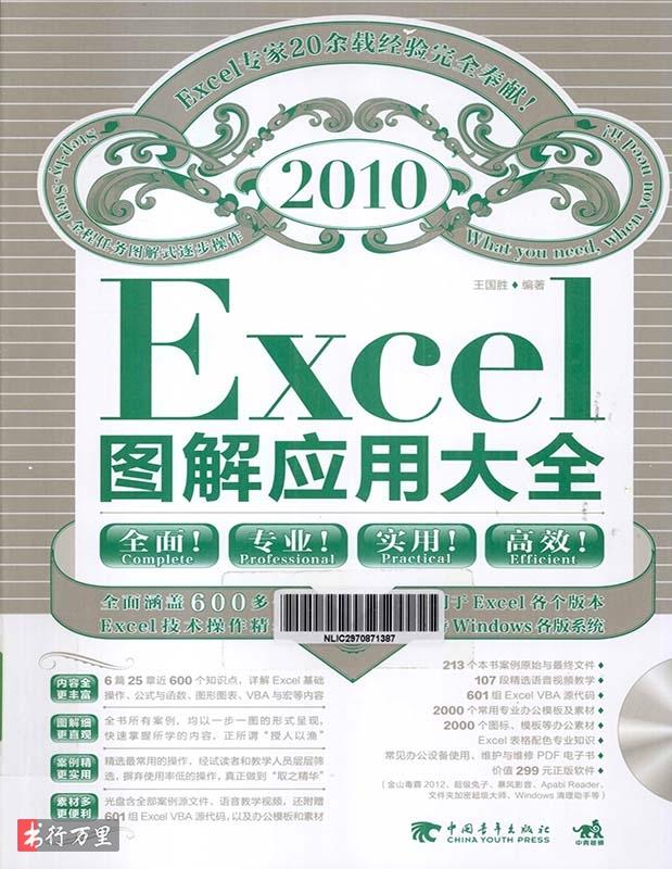 《Excel2010图解应用大全(附光盘)》王国胜  扫描版 PDF电子书 网络免费下载
