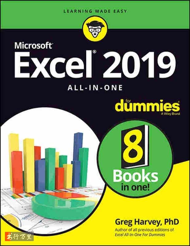 《Excel 2019 All-in-One For Dummies》(英文原版)Greg Harvey PDF电子书 文字版 网盘免费下载