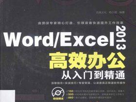 《Word/Excel 2013高效办公从入门到精通》杨小丽 扫描版 PDF电子书 网盘免费下载