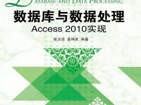 《数据库与数据处理:Access 2010实现》张玉洁_文字版_pdf电子书_网盘免费下载