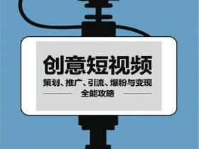 《创意短视频:策划、推广、引流、爆粉与变现全能攻略》肖恩·卡内尔_中文版_PDF电子书下载